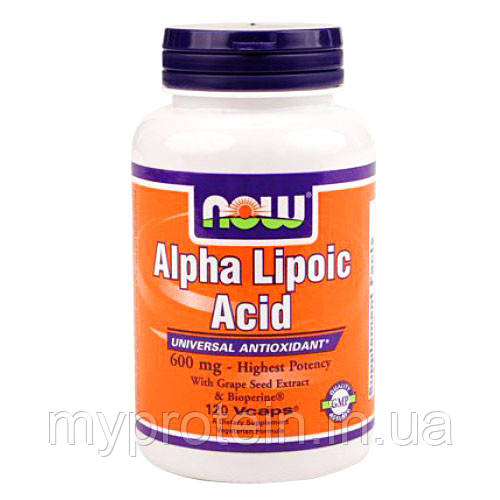 NOW Альфа-липоевая кислота Alpha Lipoic Acid 250 mg 60 caps