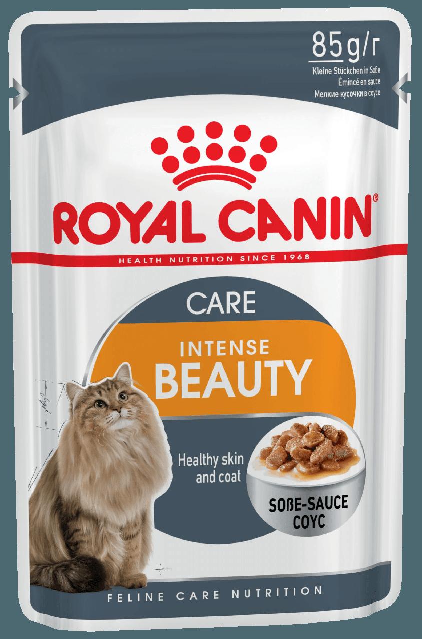 Консервы для кошек с чувствительной кожей и проблемной шерстью Royal Canin Intense Beauty в соусе 85 г