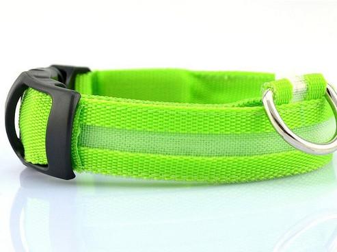 🔝 Светящийся ошейник для собак, аккумуляторный, светодиодный, с USB зарядкой, размер XL: 52 см.   🎁%🚚