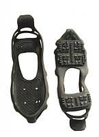 Ледоступы-накладка на подошву обуви BlackSpur на 24 шипа Чёрный S