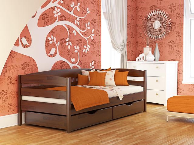 Дерев'яне ліжко Нота Плюс