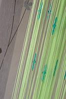 Нитяные шторы Капли № 15 Салатовый