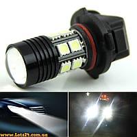 Авто-лампы H11 1 CREE + 12 LED 6500K (светодиодные лампочки для авто лучше чем галогенки и ксенон)