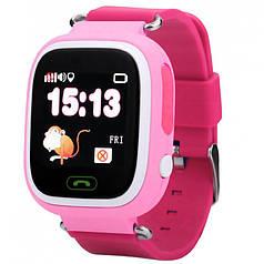"""☀Смарт-часы 1.2"""" UWatch Q90 Розовые детские SIM GPS с кнопкой SOS Встроенный динамик Скрытый мониторинг"""
