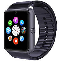 """☛Смарт-часы 1.5"""" UWatch GT08 Black GPS SIM micro SD Телефон подключение к Android устройствам"""