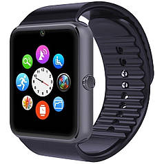 """☛Смарт-часы 1.5"""" UWatch GT08 Черные GPS SIM micro SD Телефон для фитнеса пробежек и контроля сна"""