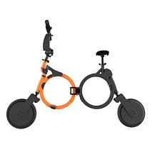 """Электровелосипед футуристичный городской складной DOUNA K1 10"""" оранжево-черный"""