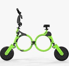"""Футуристичный электронный велосипед городской складной зеленый DOUNA K1 10"""" скорость 25 км/ч"""