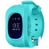 ☛Смарт-часы UWatch Q50 Голубые детские умные с функцией звонка Smartwatch экран 0.96 400 мАч