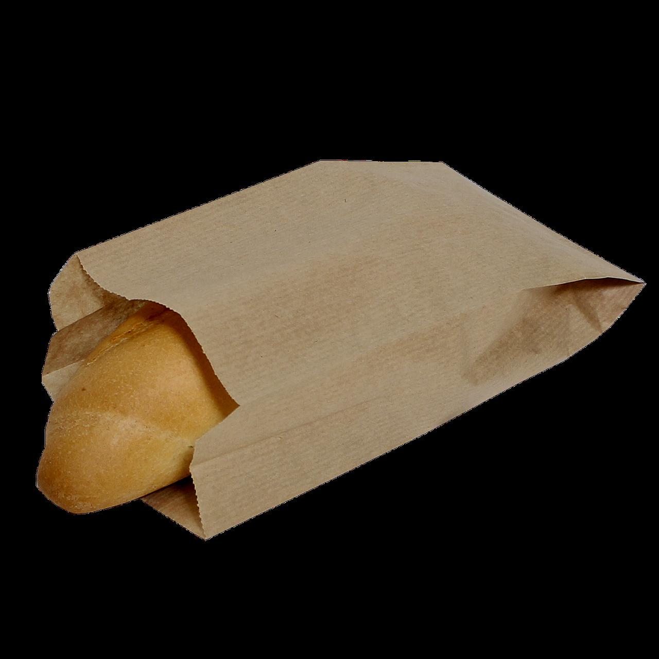 Пакет бумажный 220х140х50мм (ВхШхГ) 40г/м² 100шт (602) Крафт