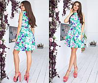 """Стильное платье мини """" Цветы """" Dress Code , фото 1"""