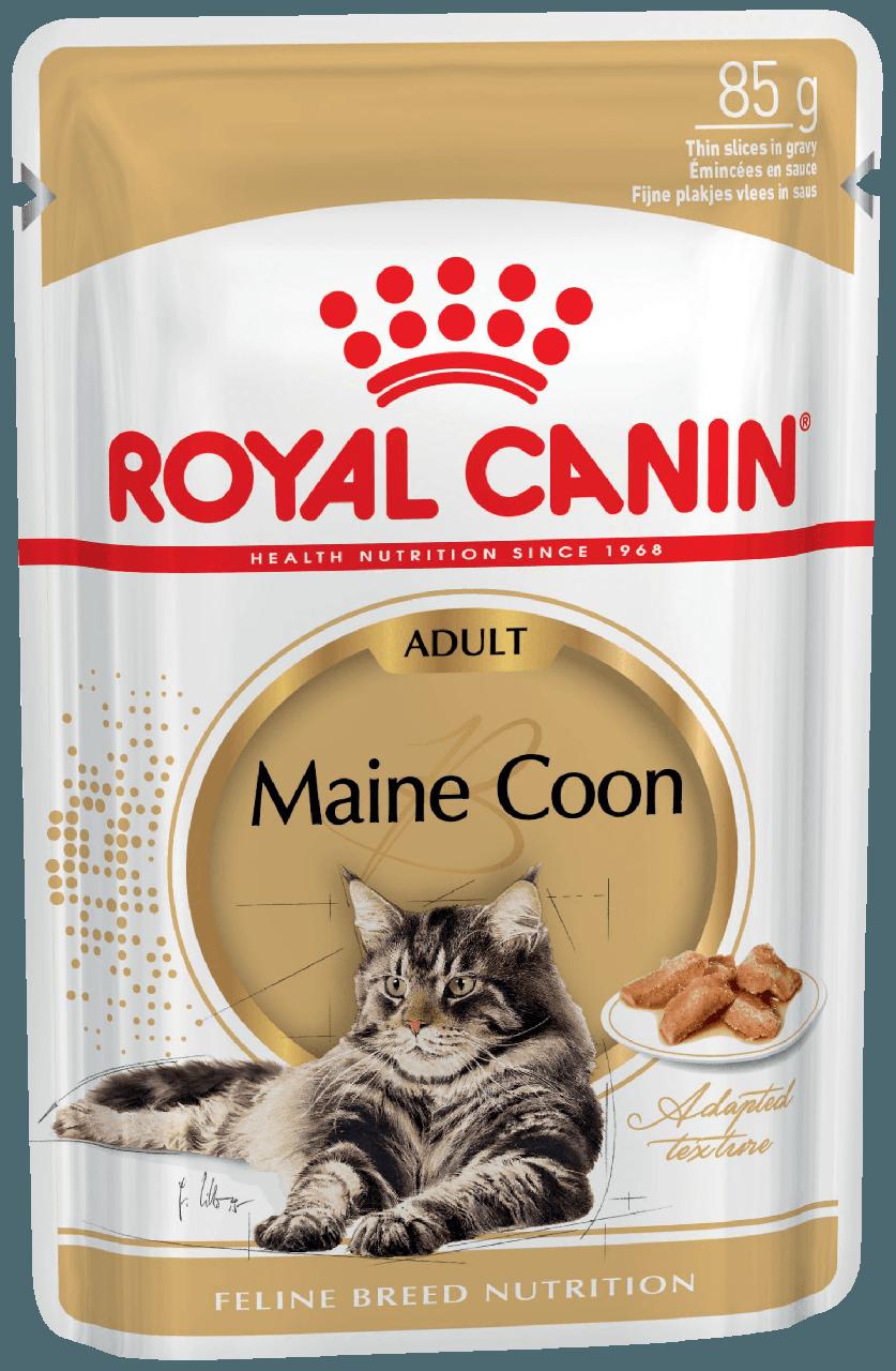 Консервы для кошек породы мейн-кун Royal Canin Maine Coon Adult в соусе 85 г