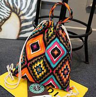 Пляжный сумка-рюкзак с узорами