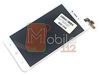 Модуль для Xiaomi Redmi Note 4X, Note 4 Global (Дисплей + тачскрин), белый, с передней панелью