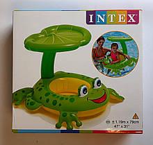 """Лодка """"Лягушка"""" с крышей 119*79 см 56584 Intex Китай"""