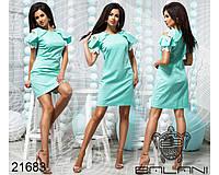 Стильное короткое платье - 21683