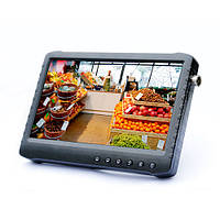 Мини видеорегистратор с экраном 7 дюймов Full HD 1080P для CVBS/AHD/CVI/TVI камер 7000 мАч (DS 906)