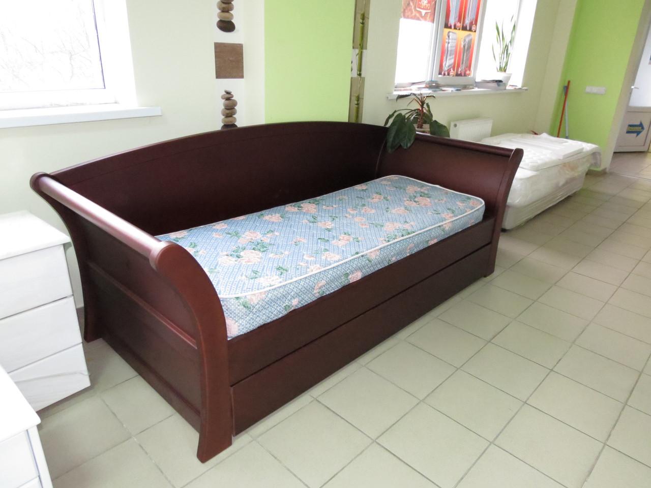 Дерев'яне ліжко Аріадна з ящиками