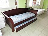 Дерев'яне ліжко Аріадна з ящиками, фото 2
