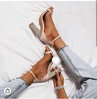 Крутые женские босоножки на высоком каблуке ,открытые, фото 1
