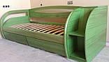 Деревянная кровать Бавария с ящиками, фото 6