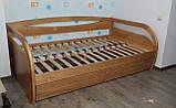 Деревянная кровать Бавария с ящиками, фото 7