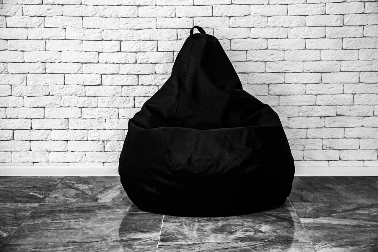 Бескаркасное Кресло груша мешок пуфик оксфорд черный 120х75