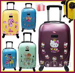 Детские четырёхколёсные чемоданчики в асортименте
