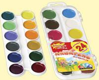 Краски акварель медовые ГАММА Увлечение 312059, 24 цвета, с/кист