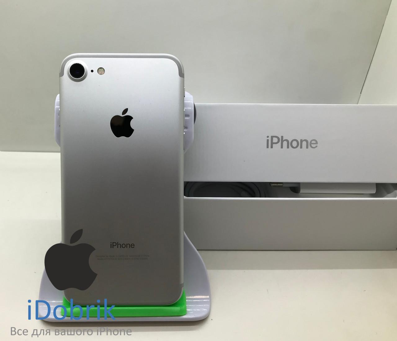 Телефон Apple iPhone 7 256gb Silver Neverlock 9/10