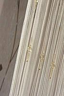 Нитяные шторы Капли № 1 Белый