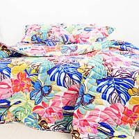 Одеяло летнее и постельное белье Папоротник: евро набор