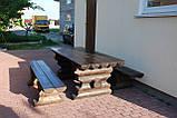Комплект стол с лавочками со сруба, фото 2
