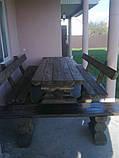 Комплект стол с лавочками со сруба, фото 3