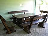 Комплект стол с лавочками со сруба, фото 4