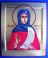 Святая преподобномученица Анастасия Римляныня, Солунская Олеография. Поталь. Размер 240*290