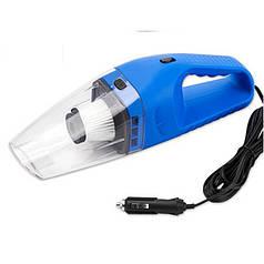 Автомобильный пылесос для сухой и влажной уборки авто пылесос 12v 120W синий