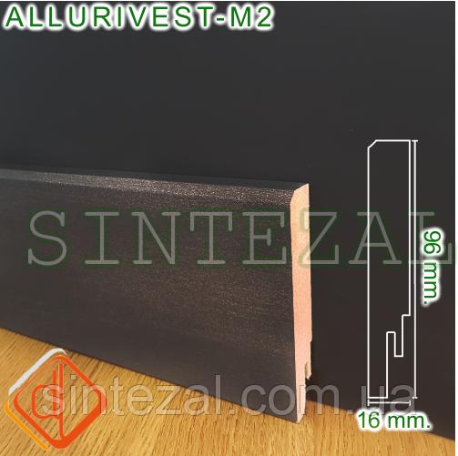 Ламинированый МДФ-плинтус под металл, 16х96 мм.