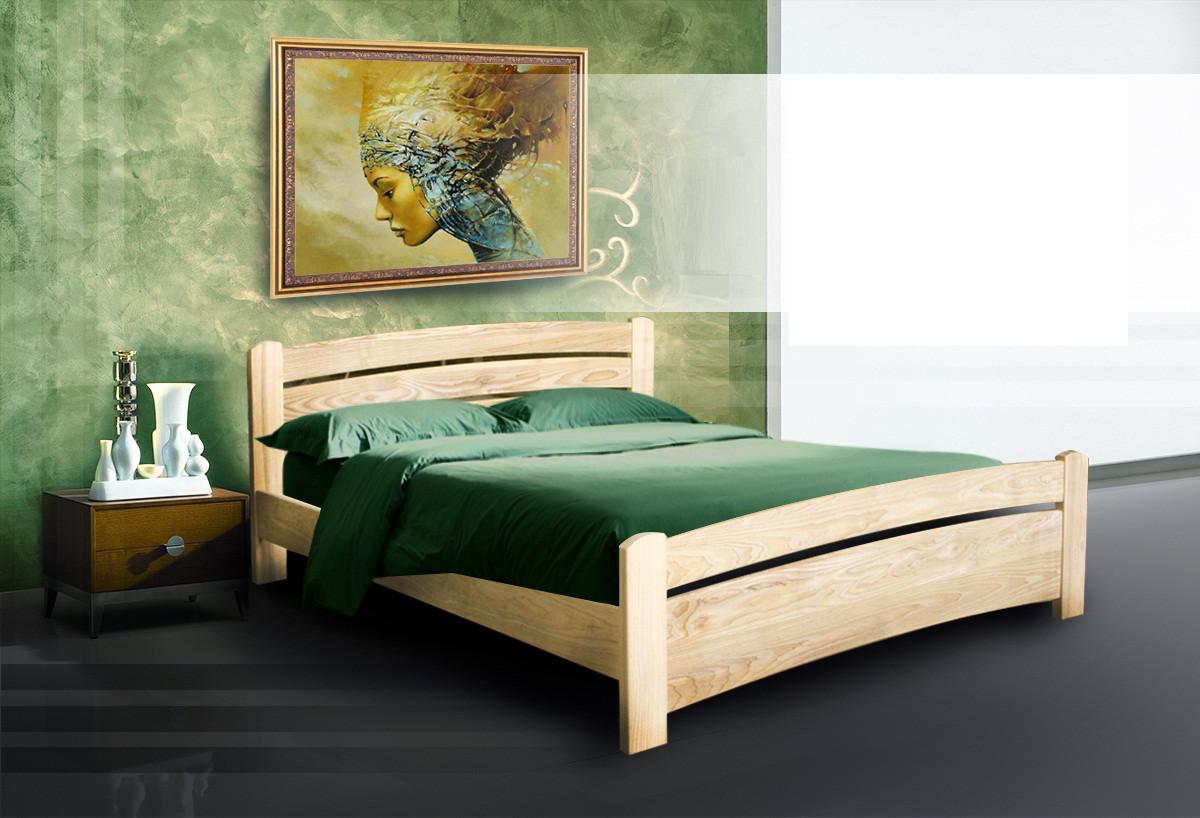 Дерев'яне ліжко Грін плюс