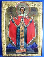 Икона святая великомученица Варвара. Олеография. Имитация полудрагоценных камней. Размер 200*270