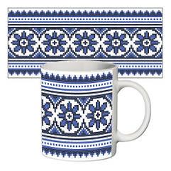 Чашка Вишиванка синя