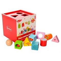 Деревянная развивающая игрушка куб Сортер MD 1077