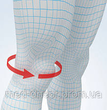 Эластичный наколенник Aurafix 116 c шарнирами и фиксирующими ремнями, фото 3