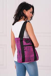 Розовая сумка-тоут AIR с абстрактным принтом
