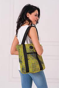 Желтая сумка-тоут AIR с абстрактным принтом