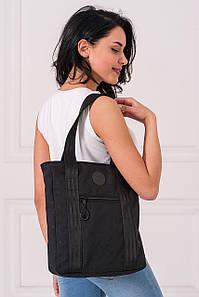 Черная сумка-тоут AIR из фактурного материала