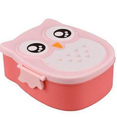 Ланч бокс Сова детский контейнер для еды HJ-13 Red