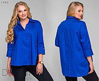 Женская асимметричная рубашка 58-60, Электрик