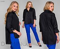 Женская асимметричная рубашка 58-60, Черный