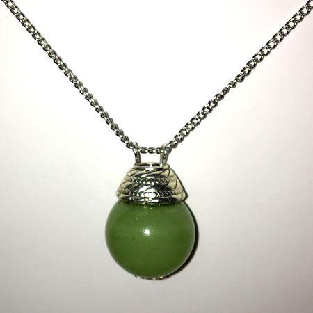 """Аромакулон из камня """"Оникс"""" (зеленый)"""
